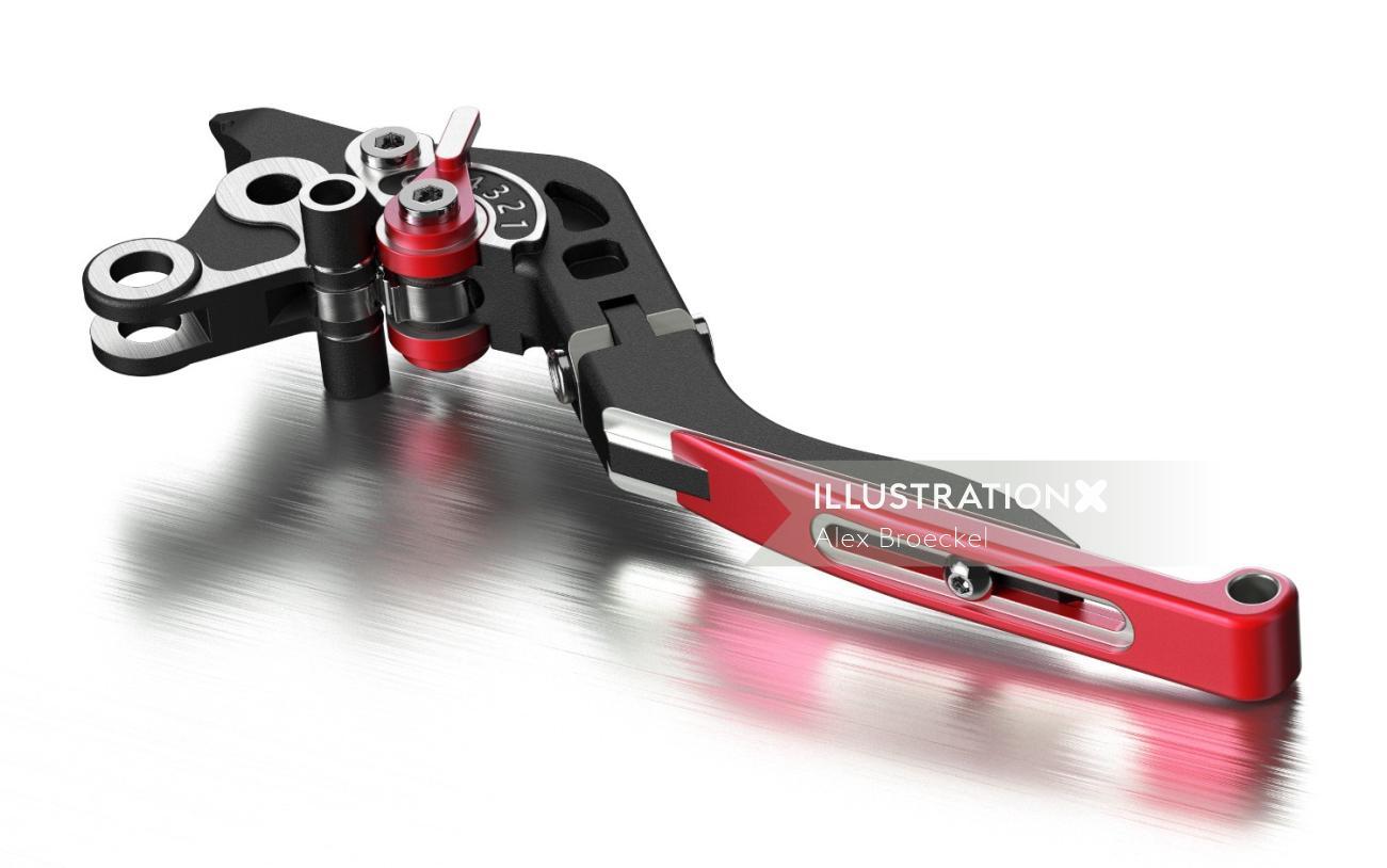 3d illustration of hardware tool