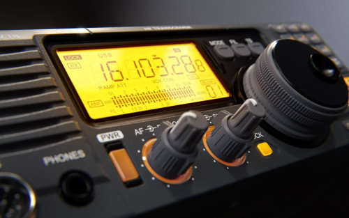 Technical 3d illustration of radio