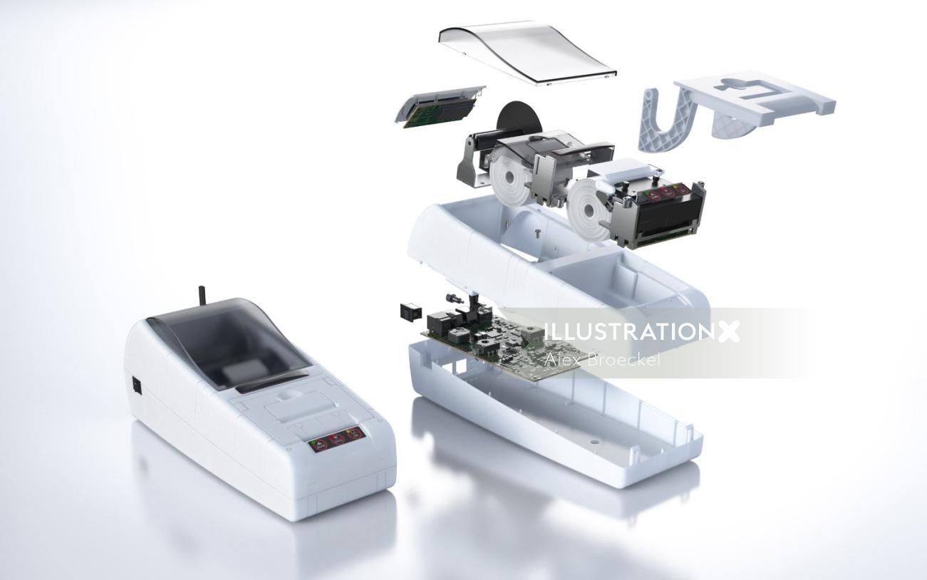 technical 3d bill machine