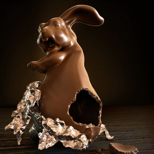 CGI Illustration of Chocolate Rabbit