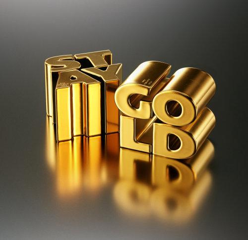 Conception de lettrage 3D Stay Gold