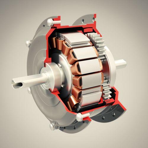 Digital Painting of Motor Cutaway