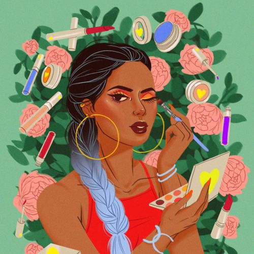 illustration of Makeup girl