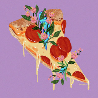 Floral Pizza Art By Alex Cabal