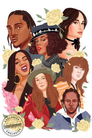 illustration of cover magzine Entertainment Only