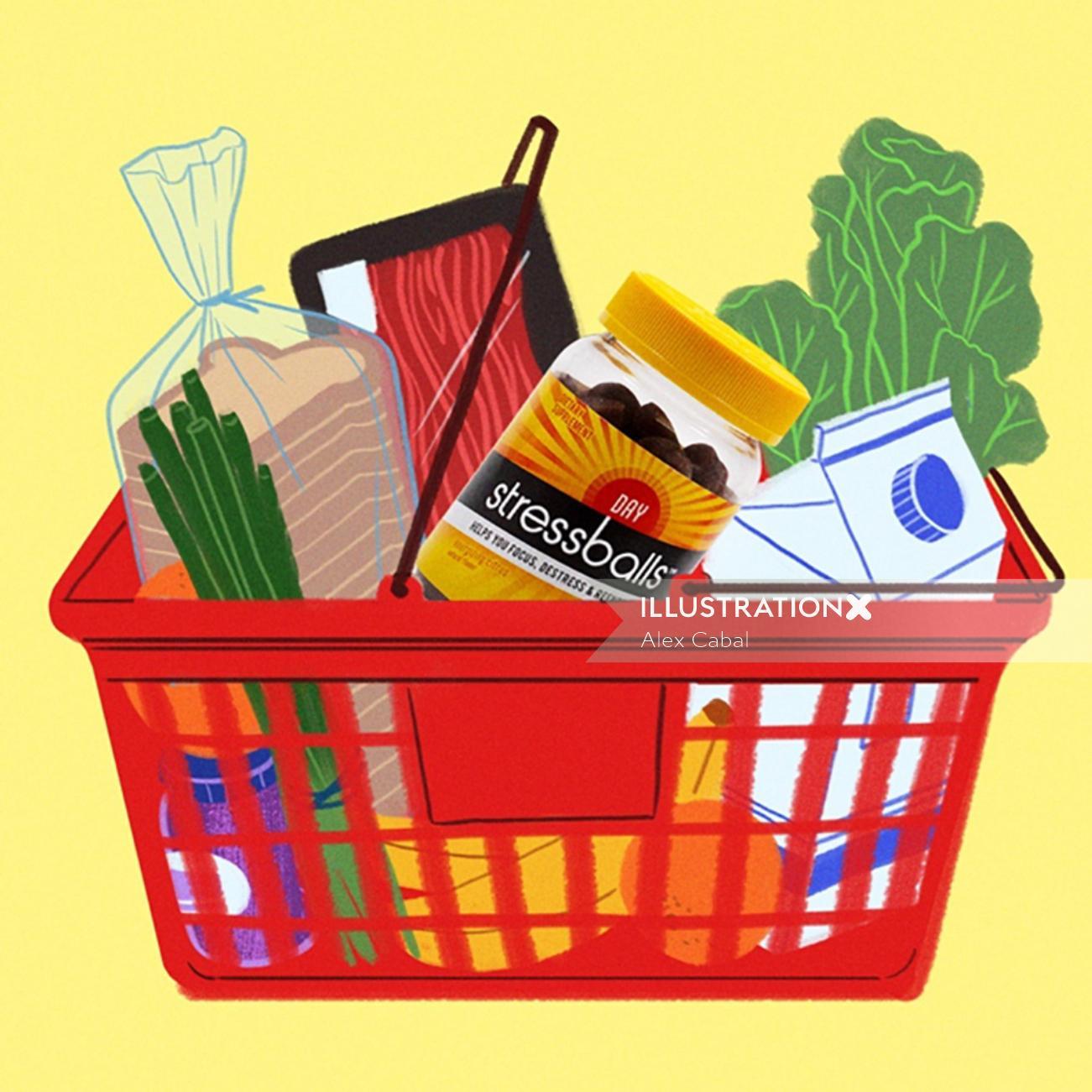 Food&Drink bread veggies in basket