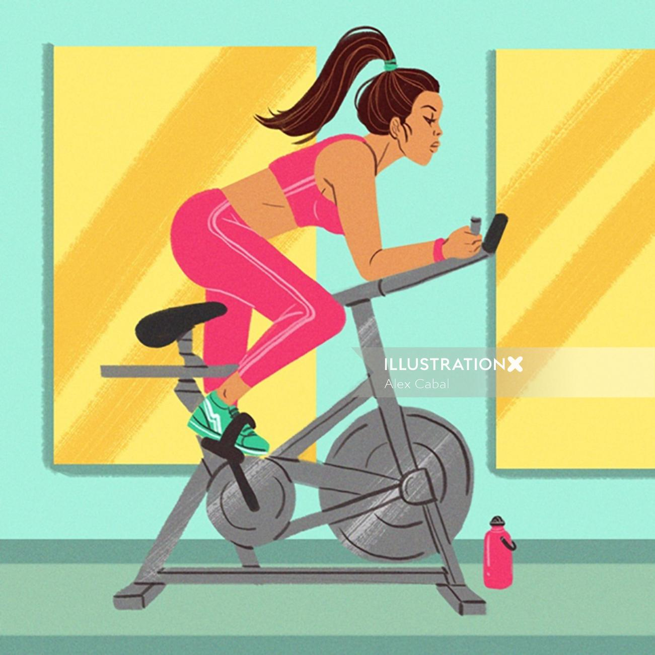 Girl's Gym fashion illustration