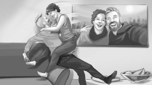 Infográfico arte de amor de casal