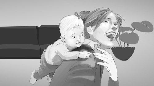 Projeto gráfico de amor maternal