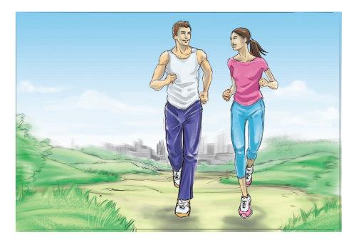 Infográfico arte de pessoas correndo