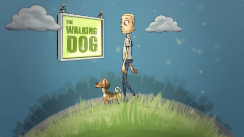 The walking dog animation