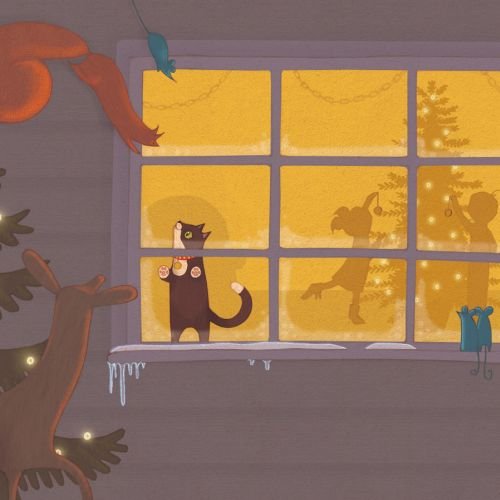 Alexandra Ball, childrens book illustrator: Oh New Years Tree Window