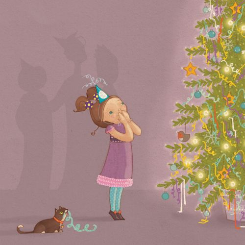 Book Illustration For Oh New Years Tree Wishes