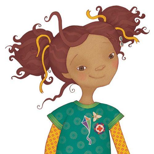 Children Girl with kite