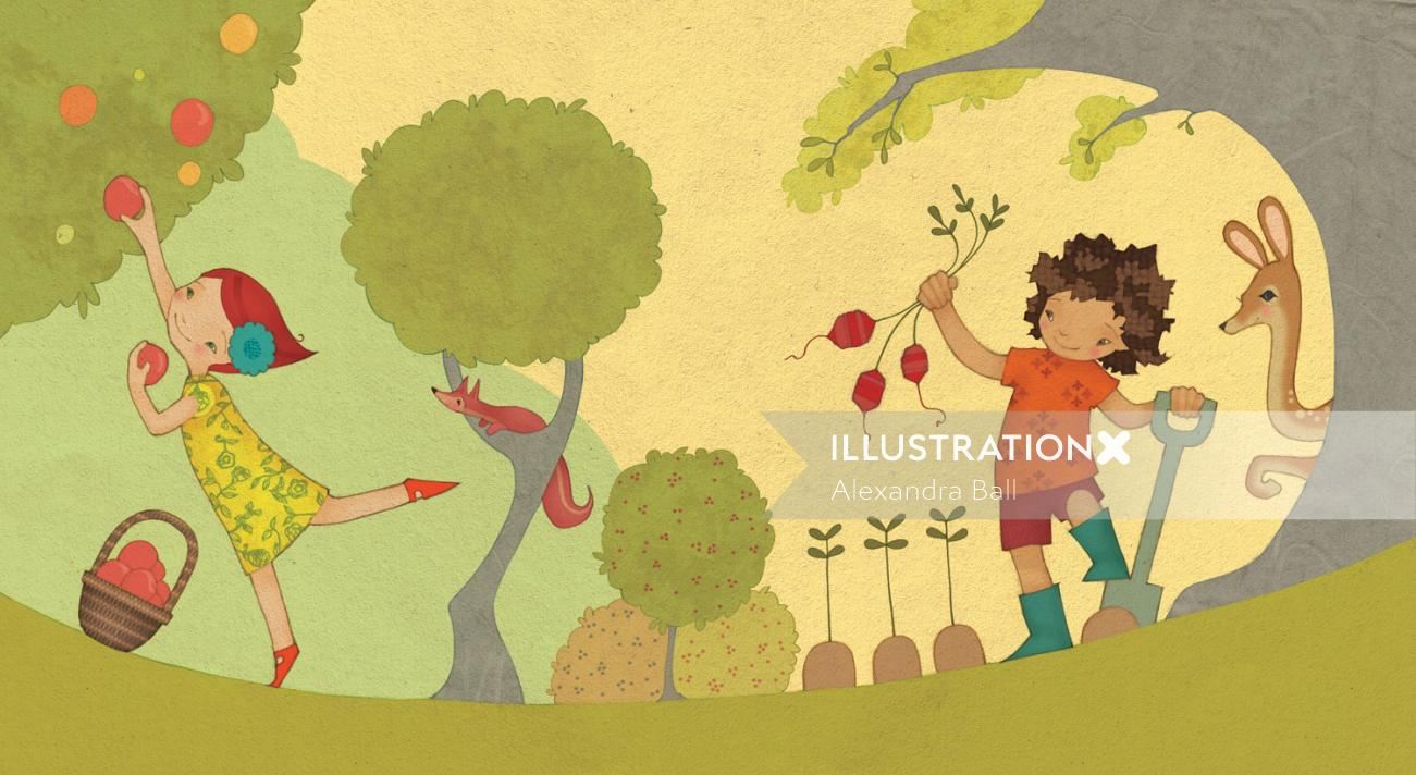 Alexandra Ball: Care For Our World book illustration