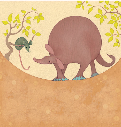 Drawing of mouse and elephant