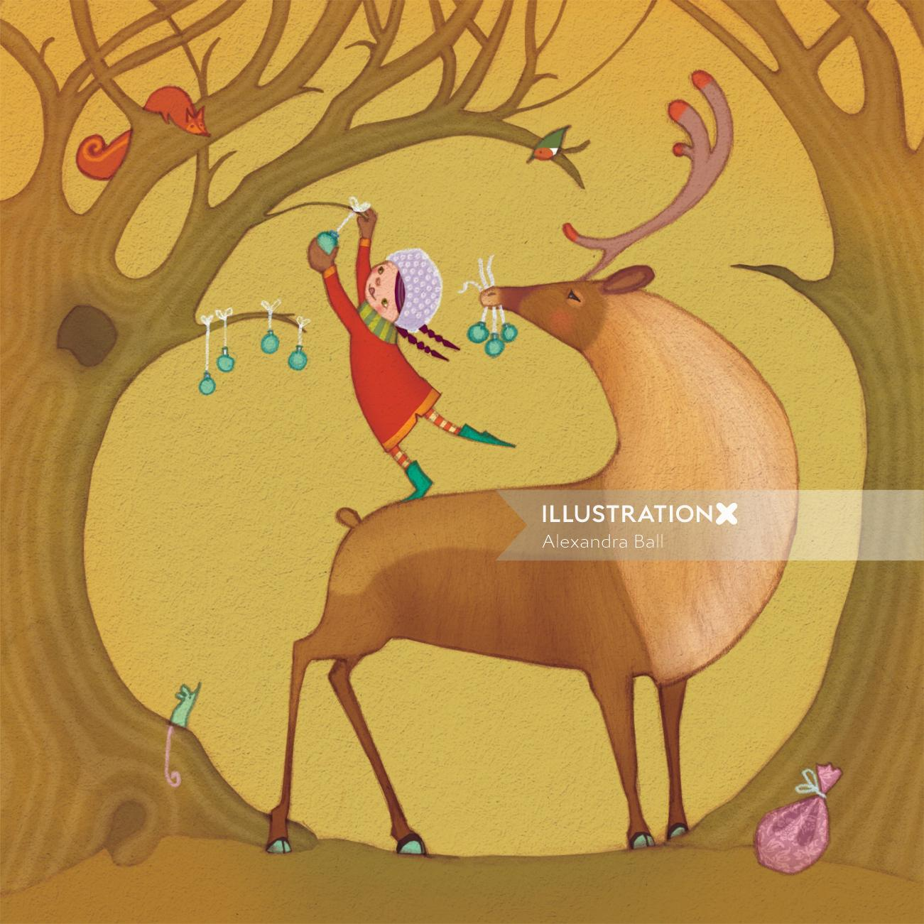 Alexandra Ball: christmas reindeer 1
