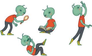 alien character design by Alexandra Ball