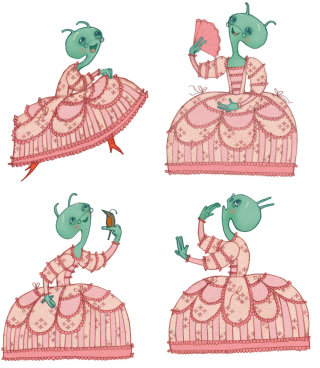 granny alien character design by Alexandra Ball