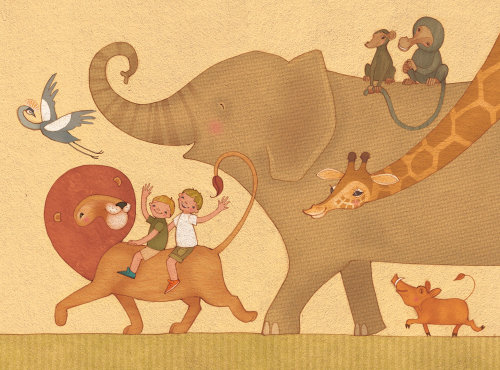 Alexandra Ball: Safari boys illustration