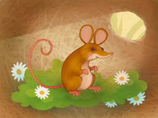 Alexandra Ball: The Animals Of Mossy Forest App: mouse