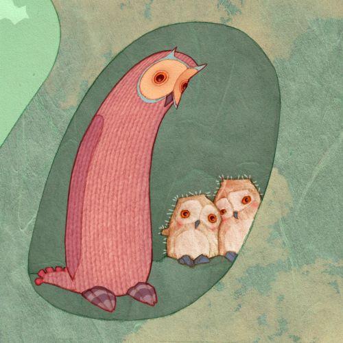 Alexandra Ball: Owl still from animation