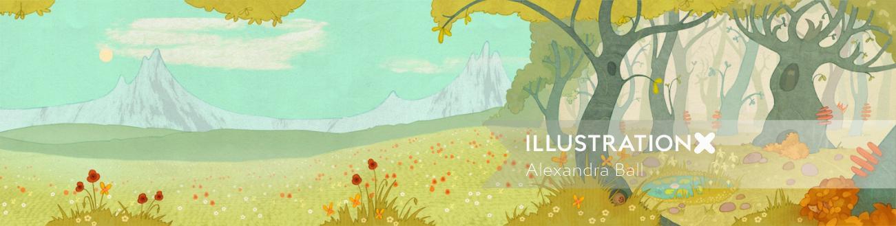 Alexandra Ball: The Animals Of Mossy Forest App: scene