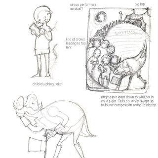 Alexandra Ball: circus sketch