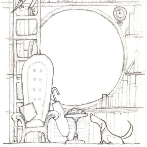 Alexandra Ball: library sketch