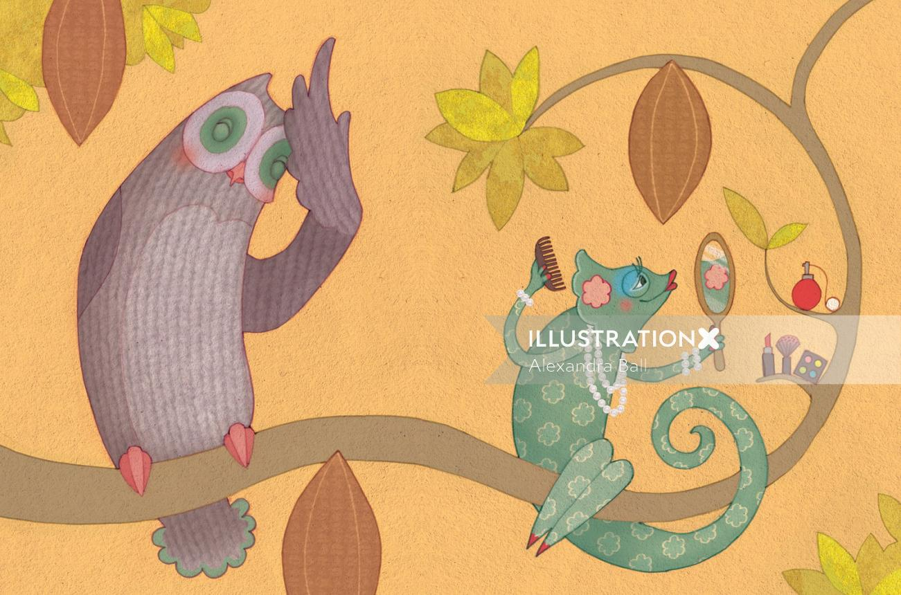 Alexandra Ball: Berger illustration