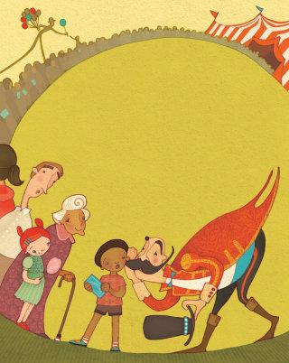Alexandra Ball: Circus Story Starter card illustration