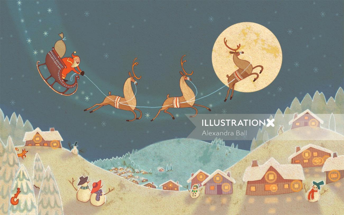 Alexandra Ball: Arko Advent Calendar Illustration