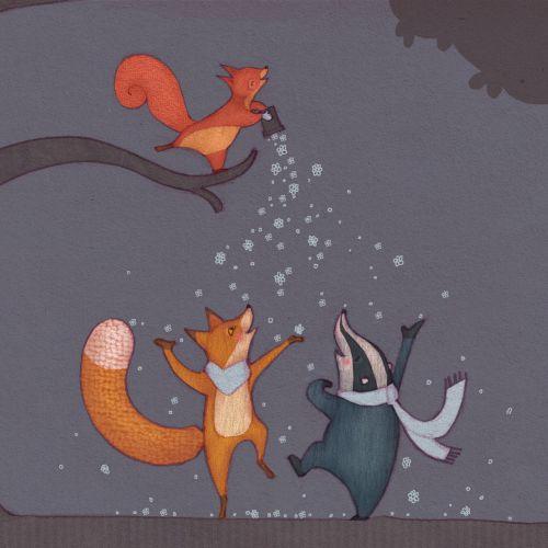 Alexandra Ball, children's book illustrator: Powder blue