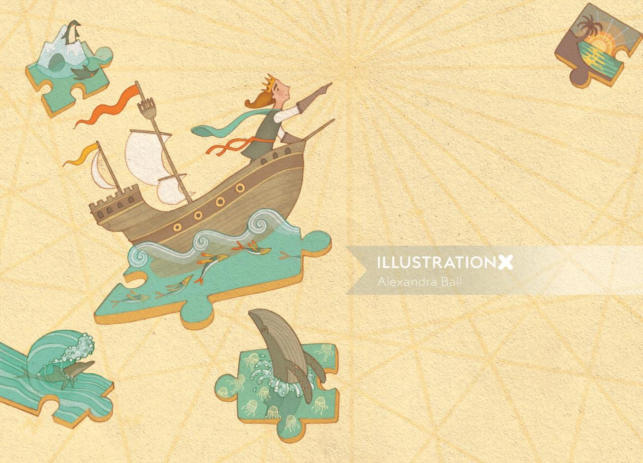 Princess Cruises Exploring illustration