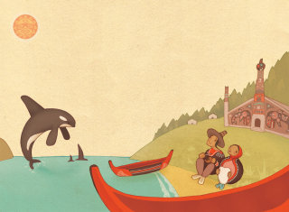Alexandra Ball, children's book illustrator: National Geographic Tlingit legend 4