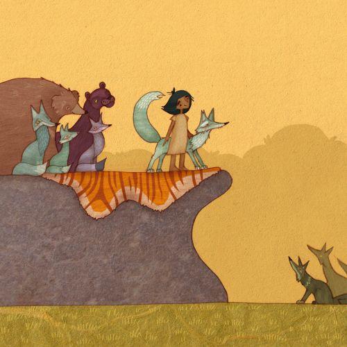 The Jungle book nature illustration