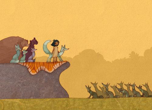 Mowgli on Council Rock Drawing