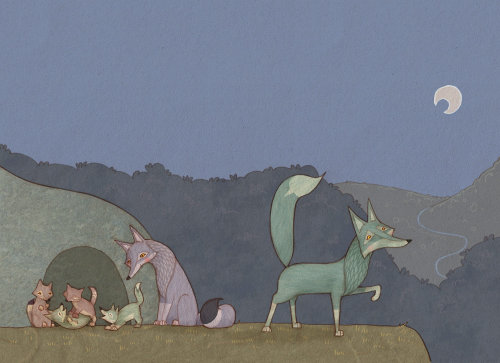 The Wolf family illustration by Alexandra Ball