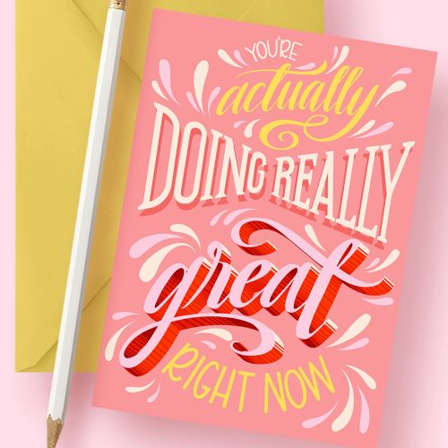 Lettering art of your actually doing really great