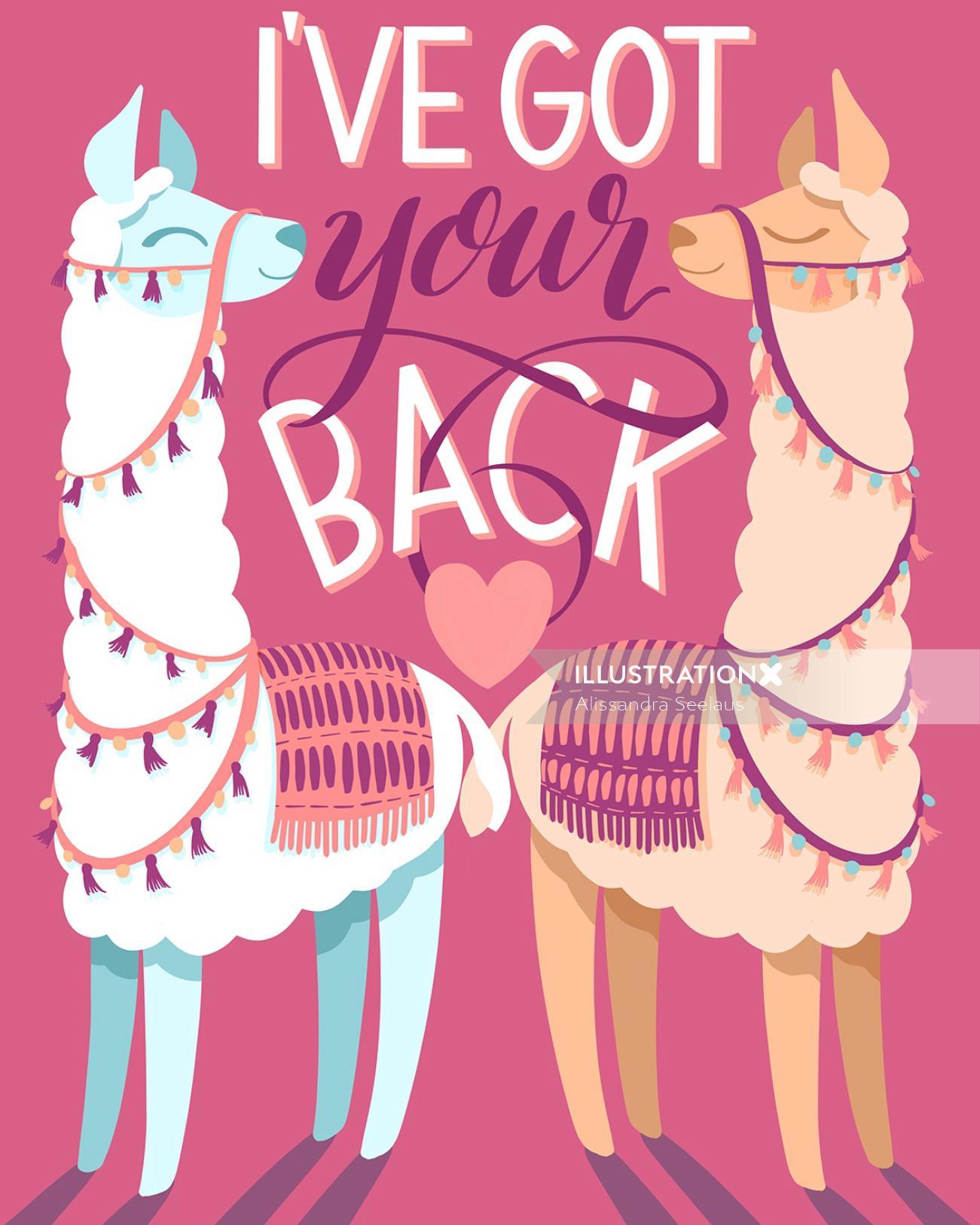 Conceptual lettering art of I've got your back