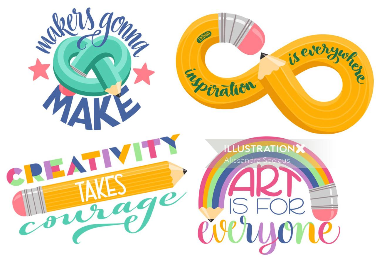 Creative art lettering by Alissandra Seelaus