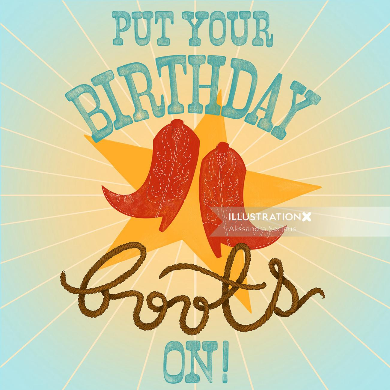 Put your birthday greets on lettering