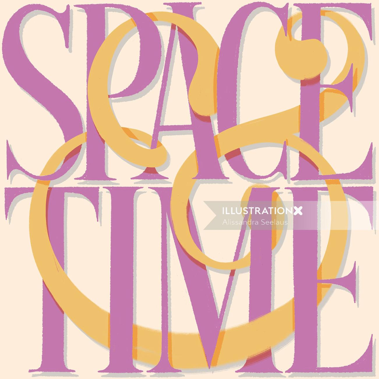 Calligraphy art of space time