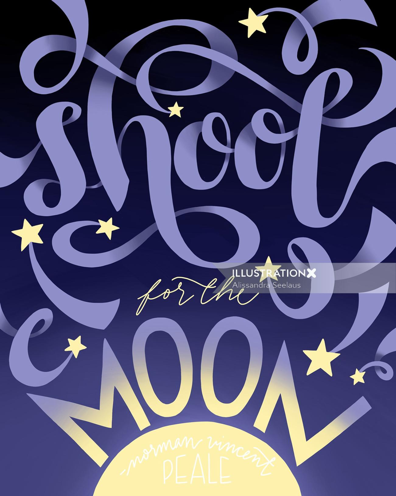 Poster design of shoot for the moon