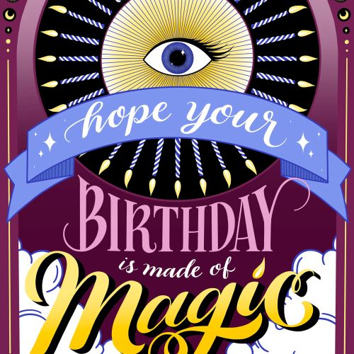 Decorative art of hope your birthday is made of magic