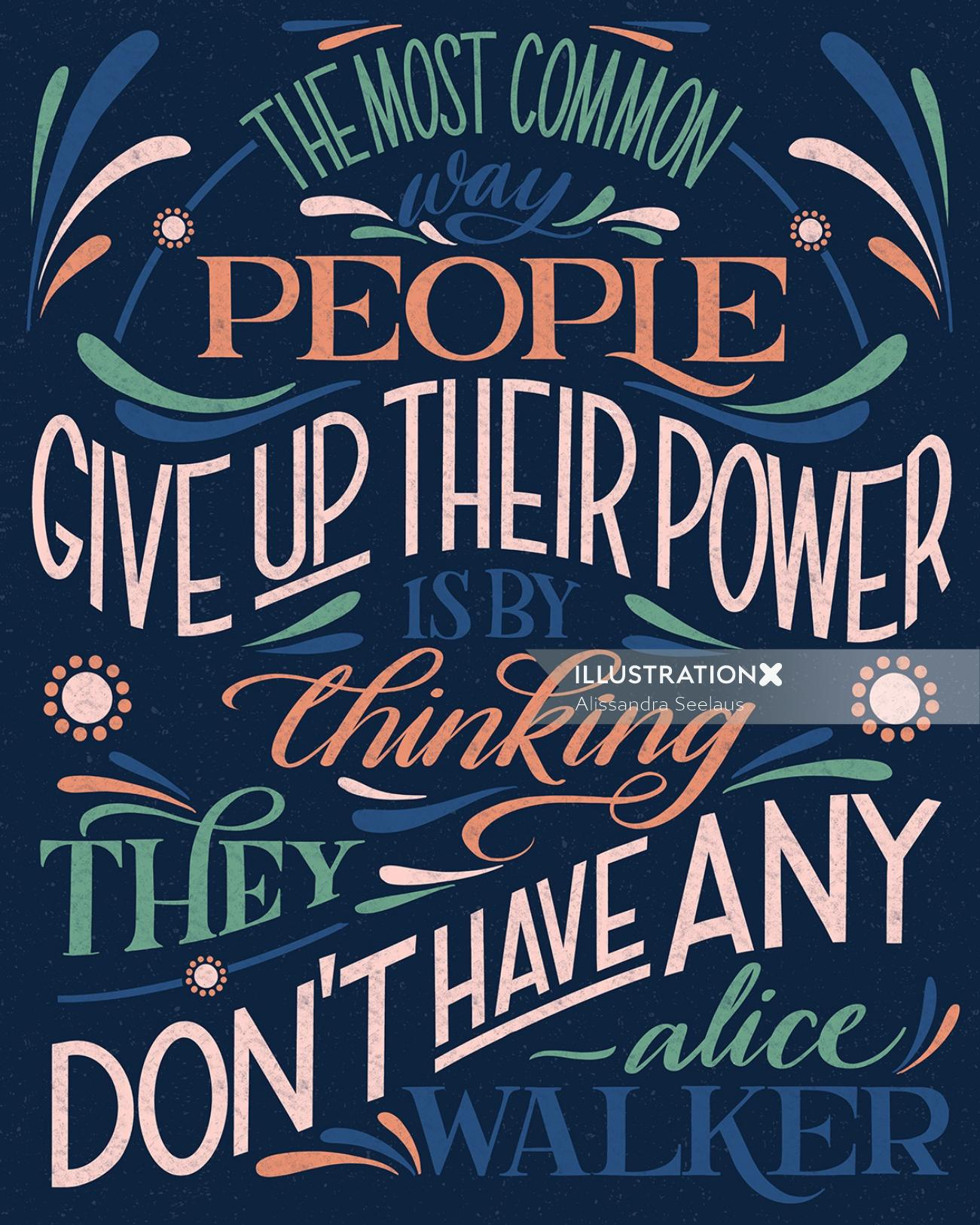 Hand lettering art for black lives movement
