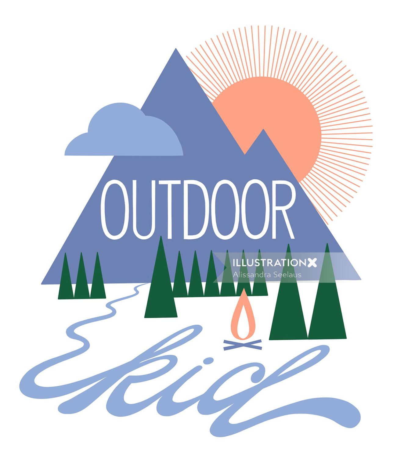Graphic design of outdoor