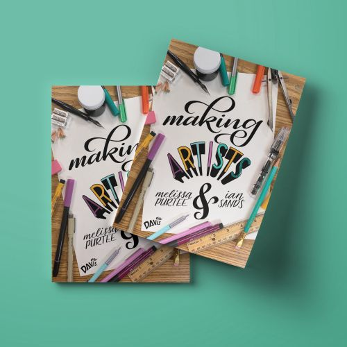 Making Artists calligraphy art by Alissandra Seelaus