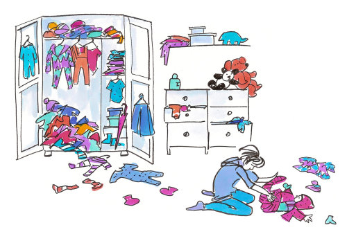 Ilustração dos pais por Alyana Cazalet Illustrator