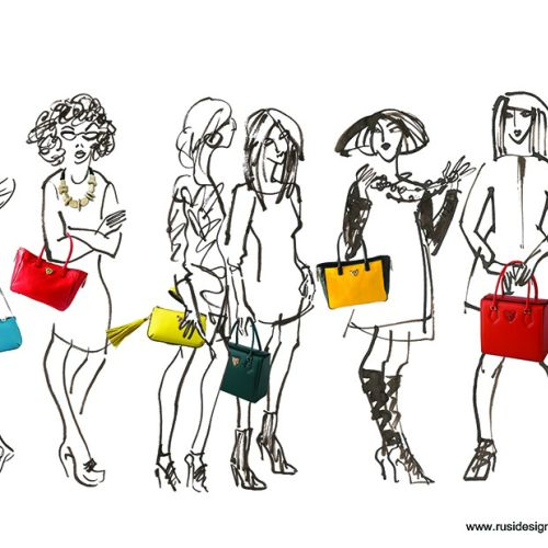 Line Artwork For Fashion Ladies